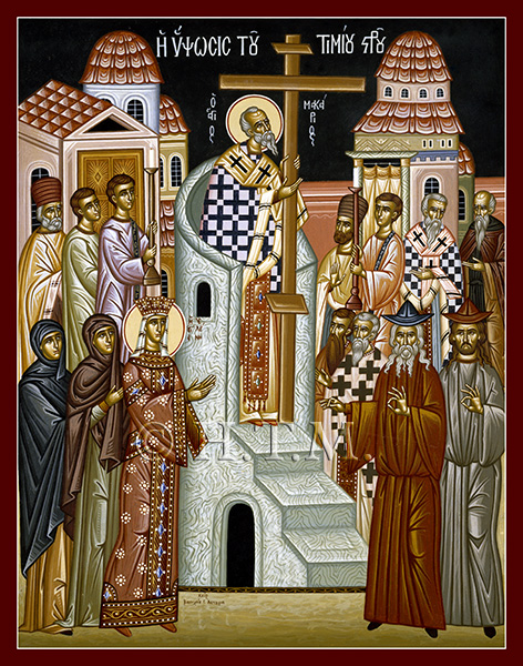 Icon-Exaltation-Cross-St. Nicholas Orthodox Church Scarborough, English Language Orthodox Church Toronto