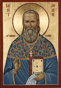 Icon-John Kronstadt-St. Nicholas Orthodox Church Scarborough, English Language Orthodox Church Toronto