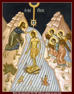 Theophany Icon-St. Nicholas Orthodox Church Scarborough, English Language Orthodox Church Toronto, Orthodox Services in English